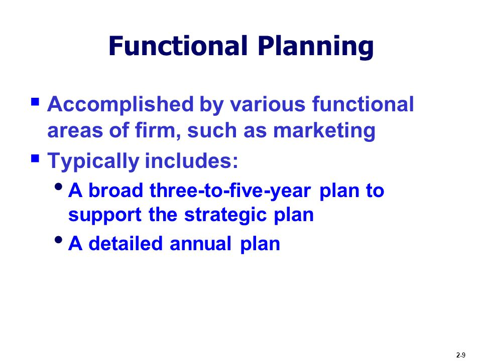 Functional Business Strategy