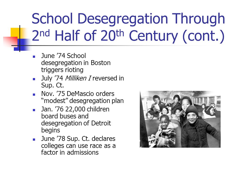 the need for desegregation of schools across america 6 shocking facts about public school segregation it would still be the norm in many schools across america removal of federal desegregation.