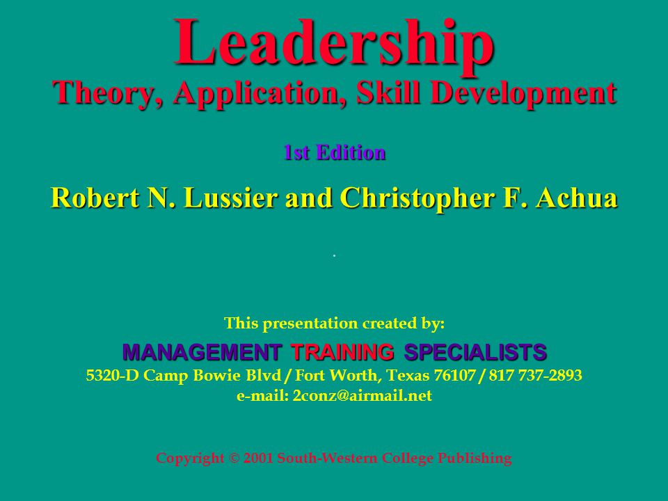 applying leadership theories 3  leadership is a process whereby an individual influences a group of individuals to achieve a common goal (northouse, 2012) the learner had to identify and compare four theories of leadership.