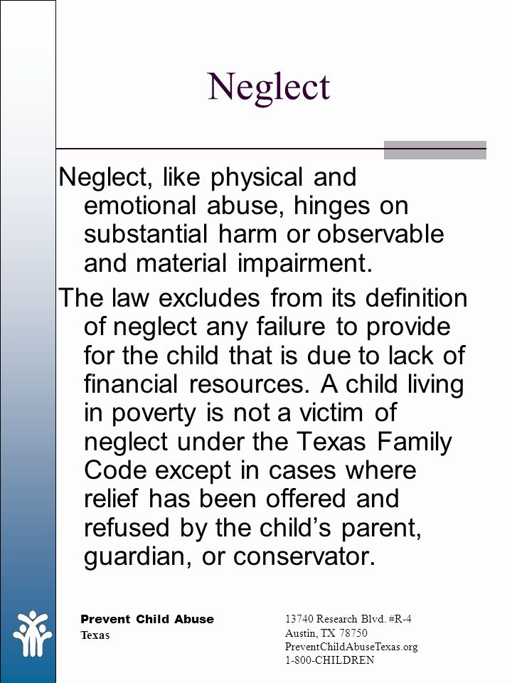 prevention of child abuse and neglect essay Free essay on child abuse available totally free at echeatcom, the largest free essay community.