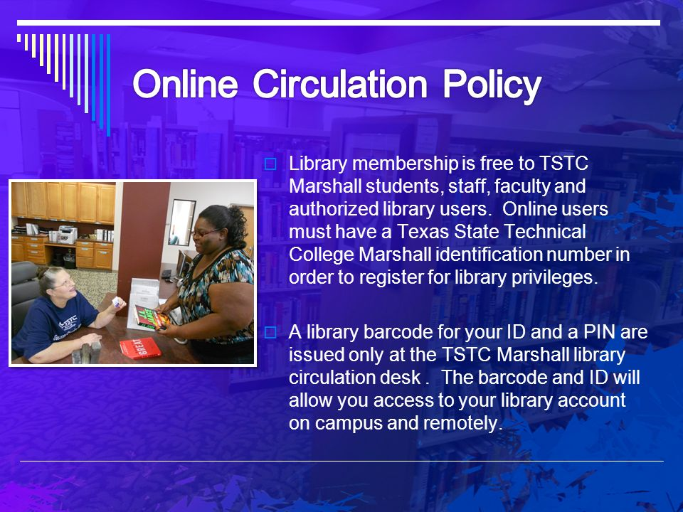 Online Circulation Policy
