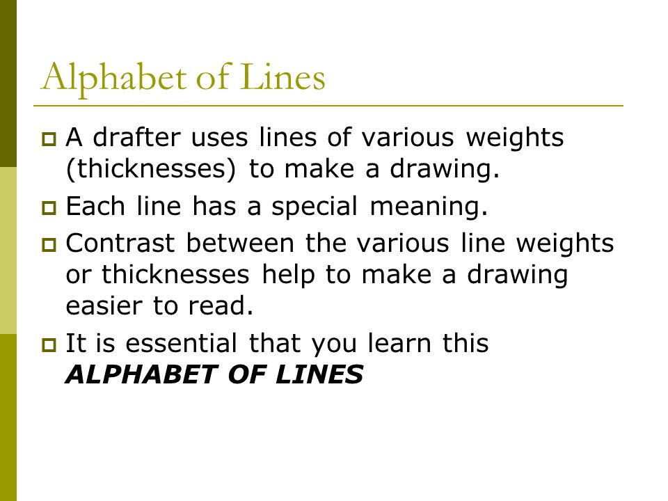 Drawing Lines Meaning : Drafting plans ppt video online download