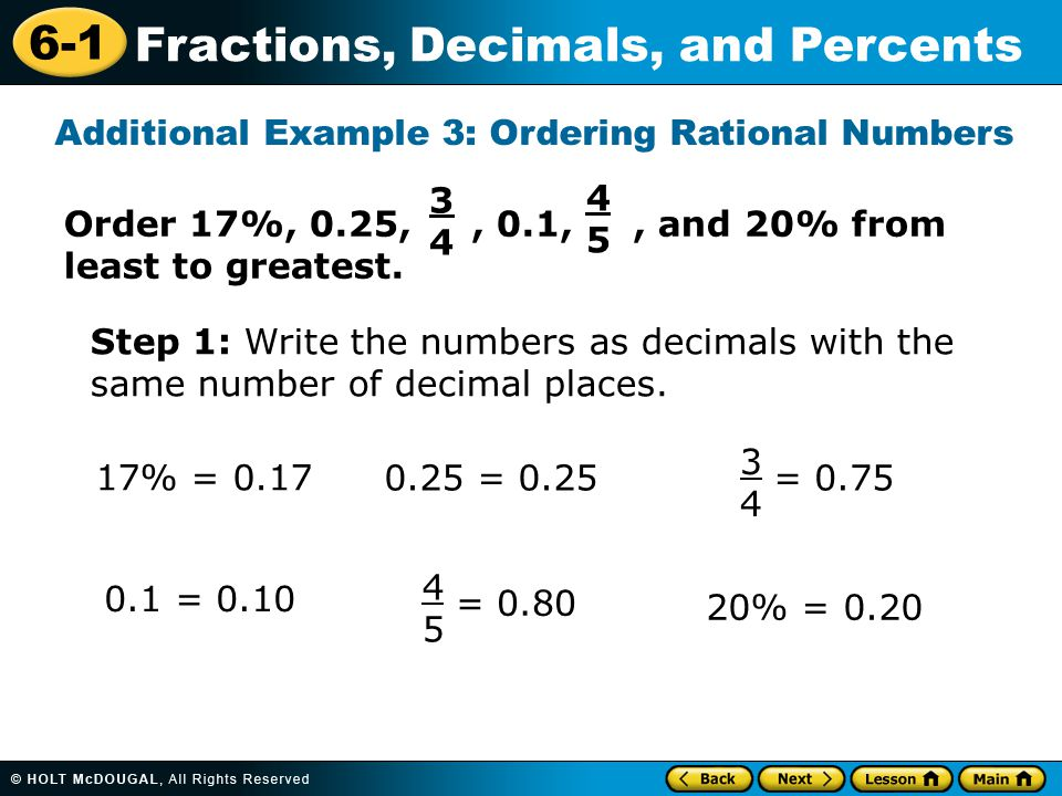 Learn to write decimals and fractions as percents. - ppt video ...
