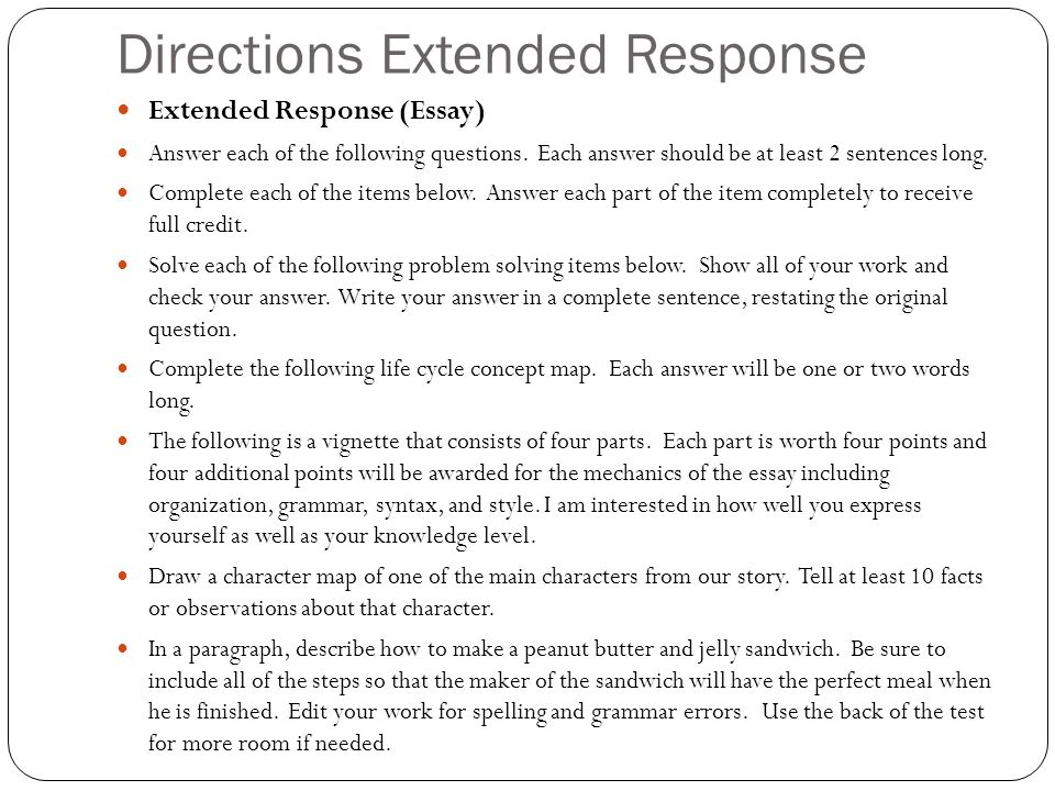 iRubric: Restricted response essay question rubric
