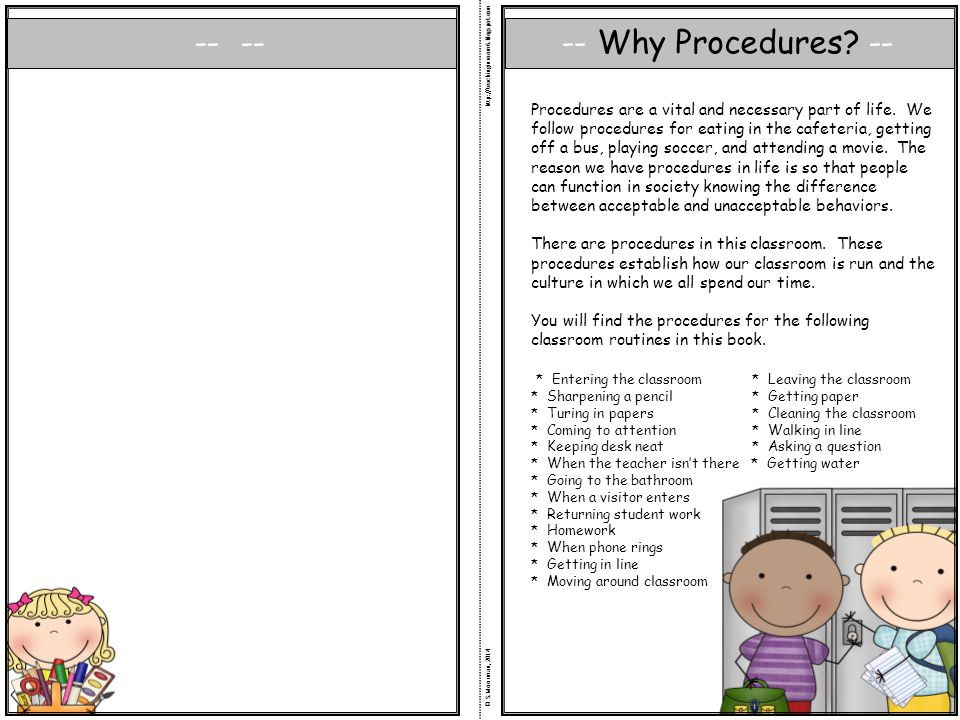 Why Procedures --