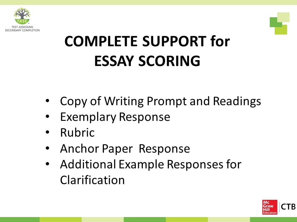 rubric for ged essay scoring Ged language-arts writing curriculum 1 • essay scoring rubric 45 • sample scored essays • forty-five minute plan for ged essay success 55 • practice.