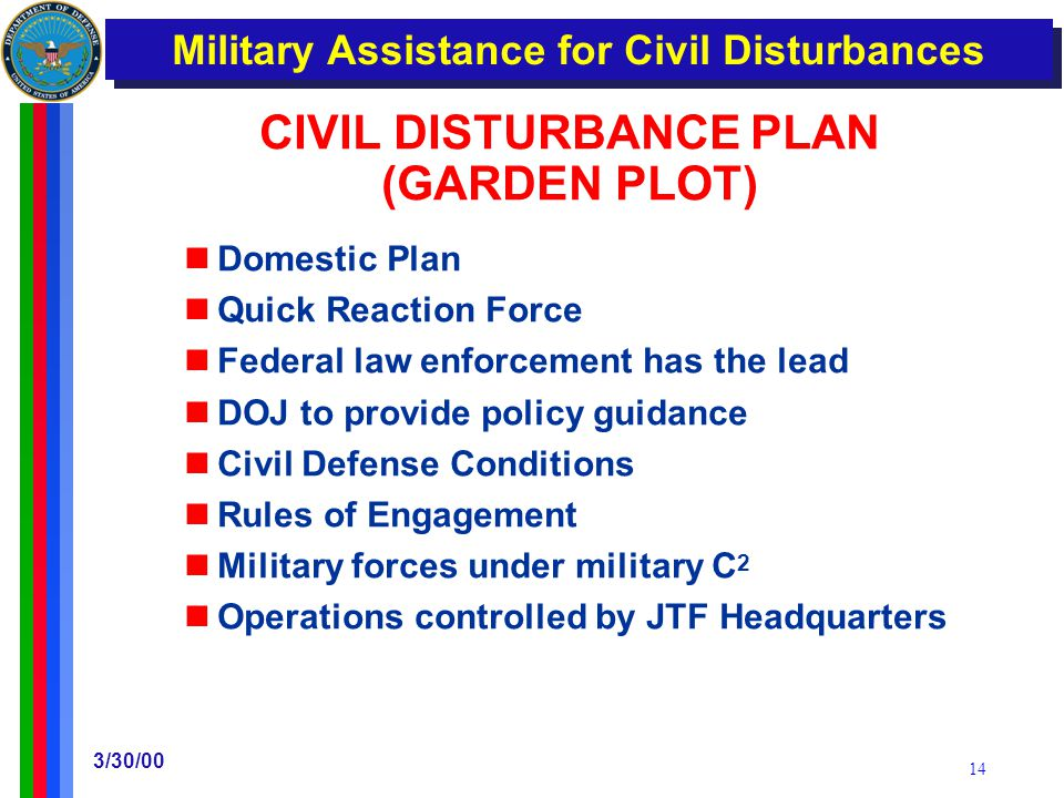 Military Support for Civilian Law Enforcement Agencies