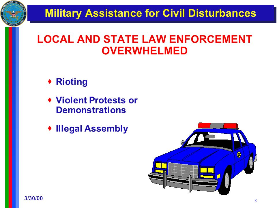 DoD Issues Instructions on Military Support of Civilian Law Enforcement
