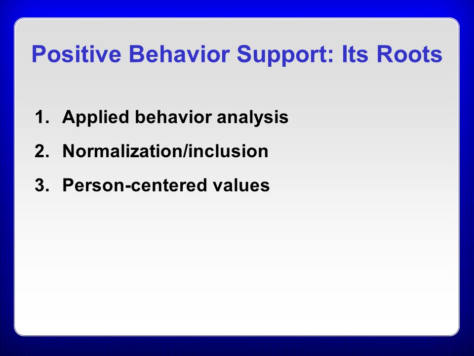 person centered values