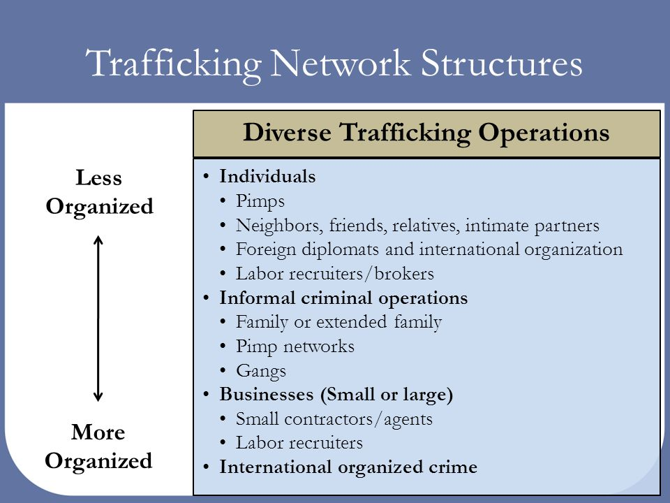 Human traffickers and criminal networks