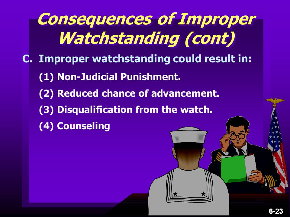 Consequences of Improper Watchstanding (cont)