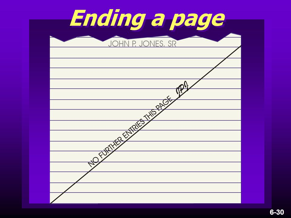 Ending a page 6-30