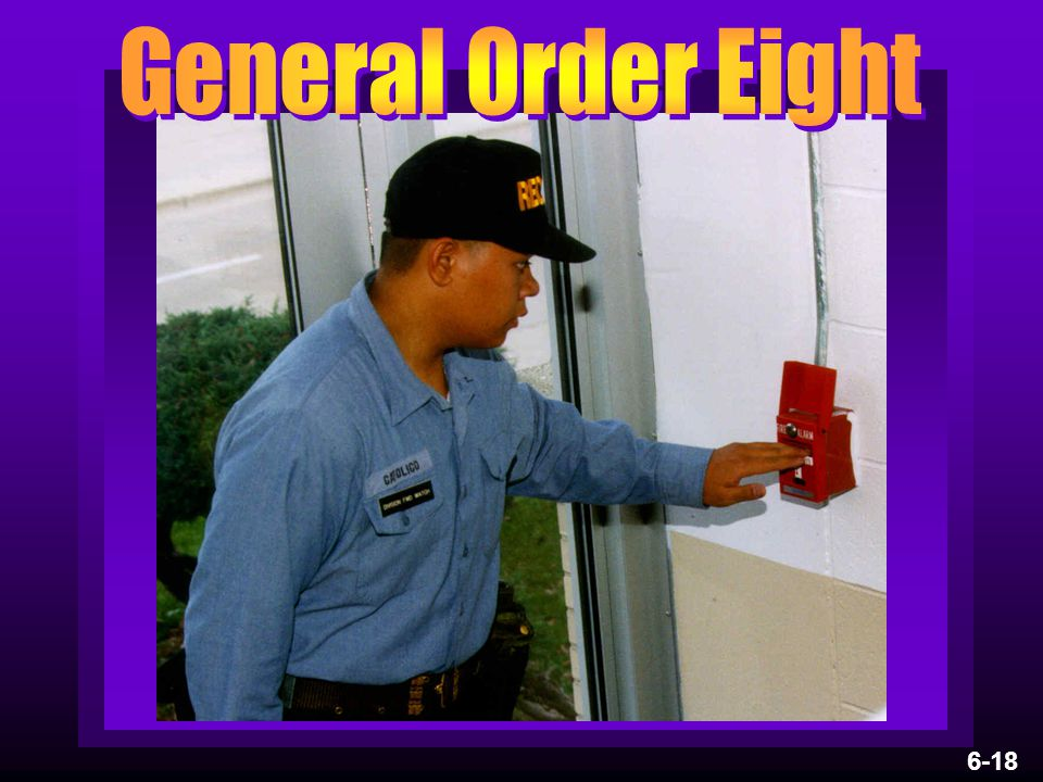 General Order Eight 6-18