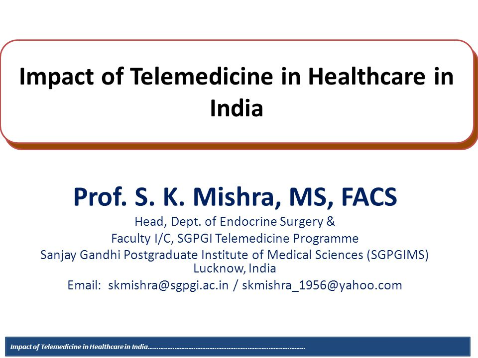 Impact of Telemedicine in Healthcare in India - ppt video