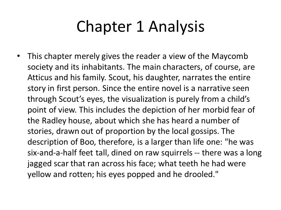 to kill a mockingbird chapters notes ppt video online  chapter 1 analysis