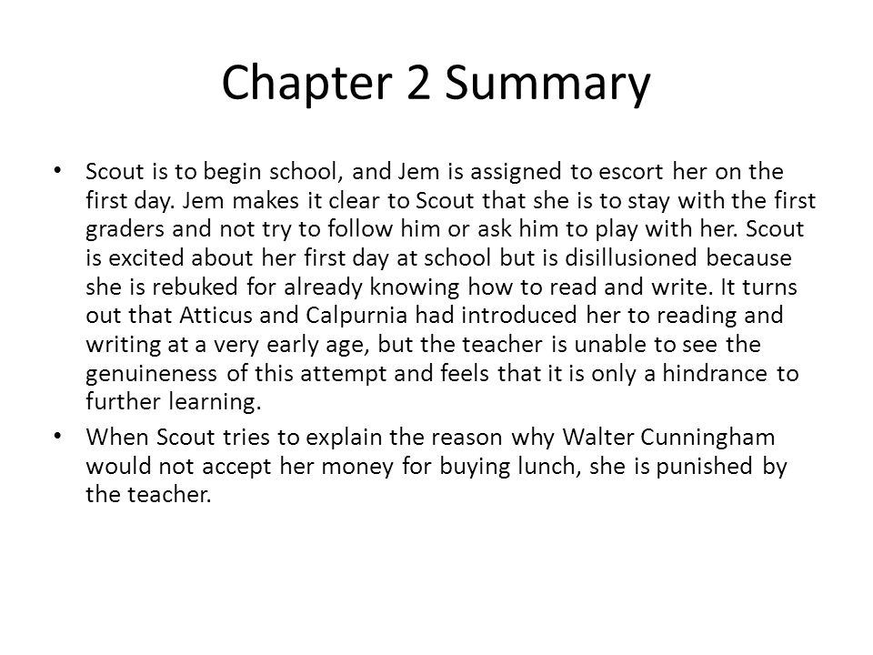 Summary of reading chapter 2