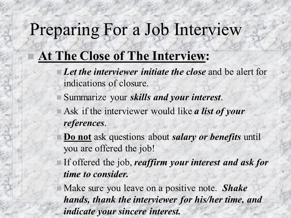 preparing for a job interview - How To Get An Interview For A Job Of Your Interest