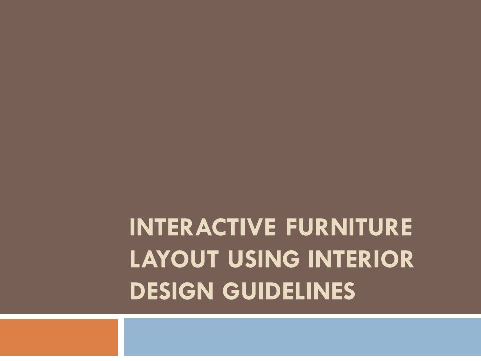 Interactive furniture layout using interior design for Interactive interior design