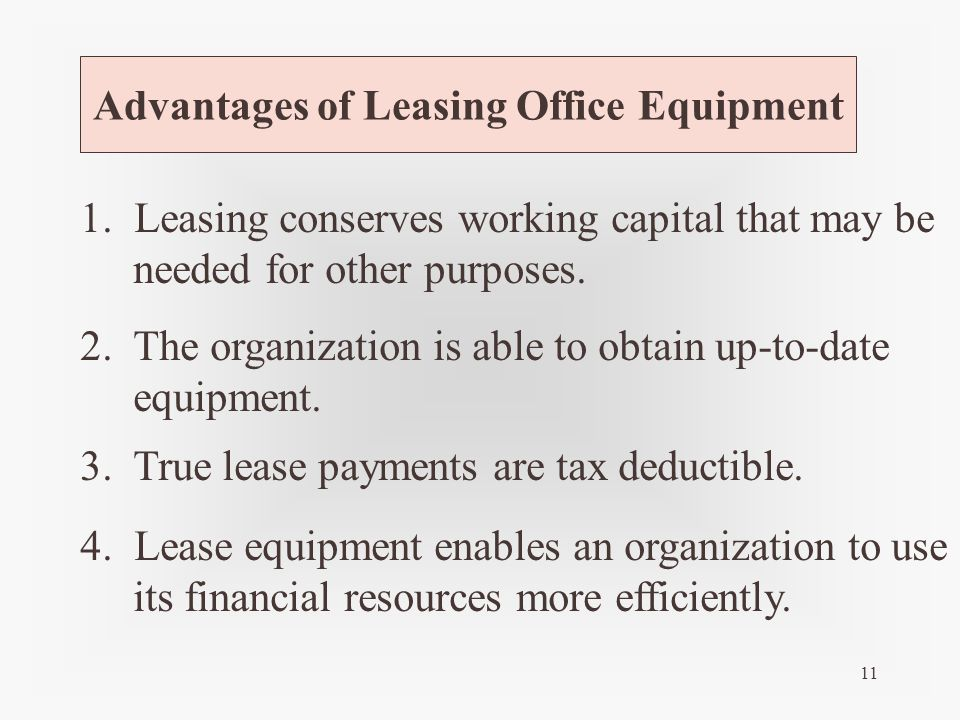 Advantages Of Leasing Office Equipment