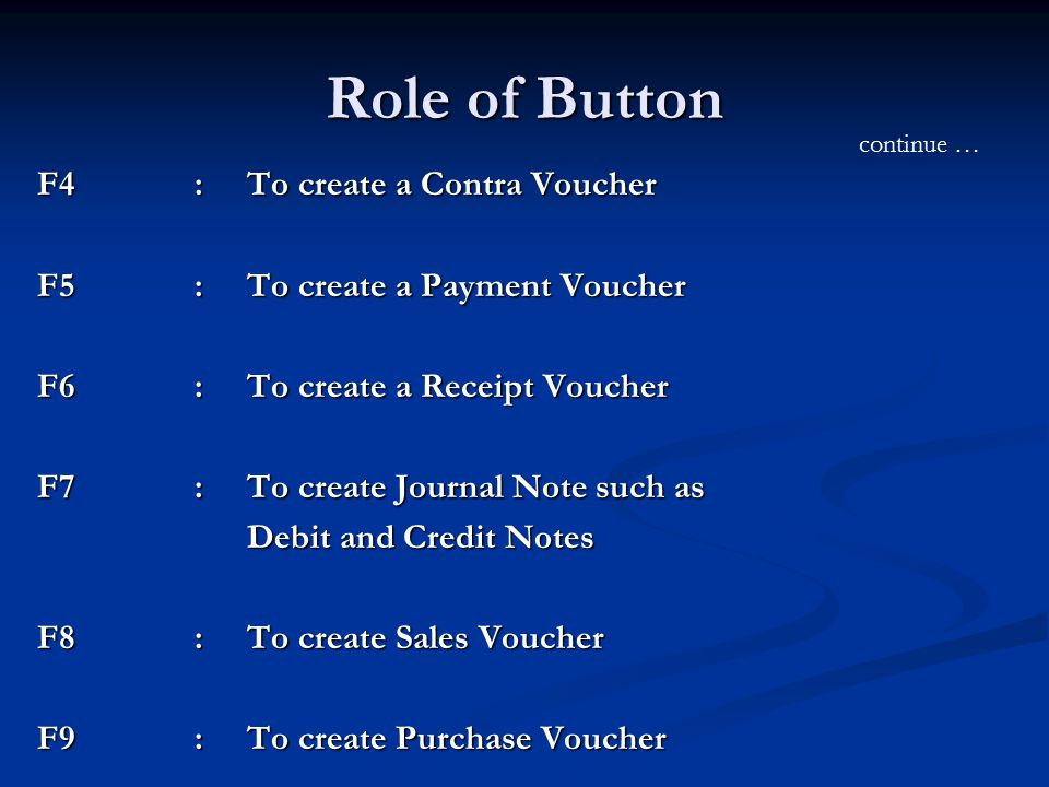 Tally Accounting Package ppt download – Create a Voucher