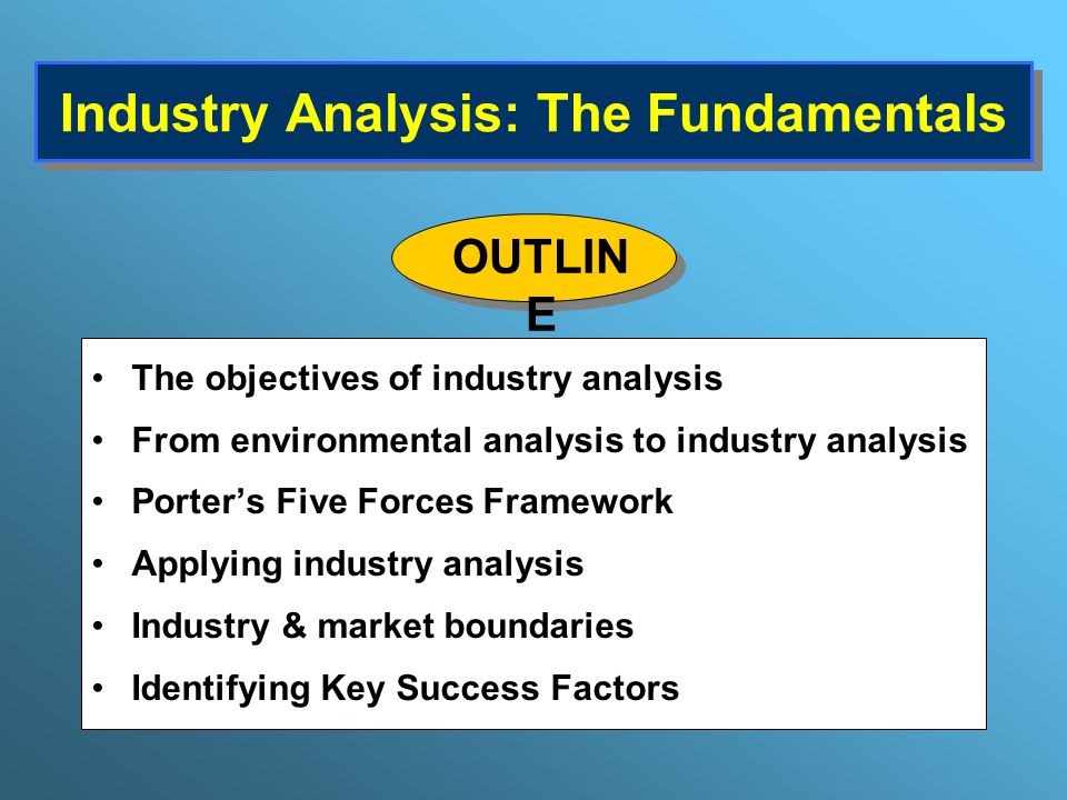 Industry Analysis The Fundamentals  Ppt Download