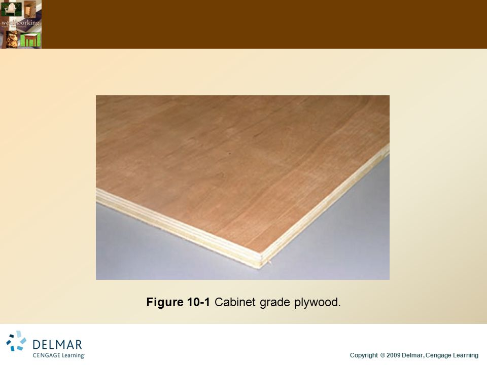 Figure 10-1 Cabinet grade plywood.