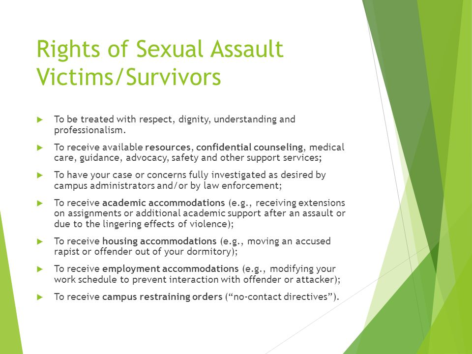 Sexual victims rights
