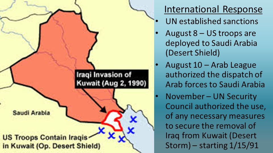 iraqs invasion of kuwait This edition of today in energy reviews the gross production impacts of three past disruptions:  the iraqi invasion of kuwait in 1990,.