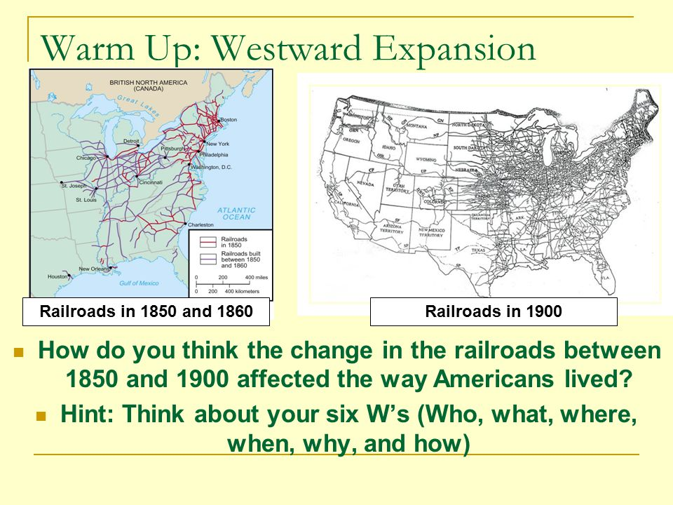 westward expansion effects on the civil war Westward movement, the populating (by europeans) of the land within the   between the gold rush and the civil war, americans in growing numbers filled  the.