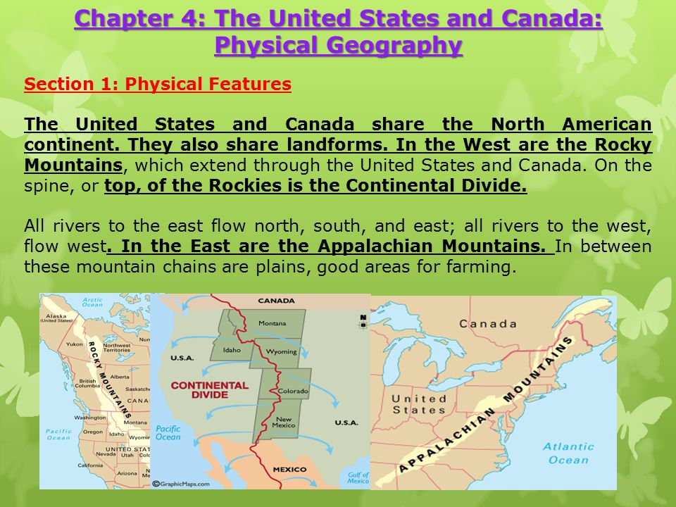CARDIO LOOK AT PAGE BASED ON THE MAP IN TERMS OF NATURAL - Physical features of canada and the united states