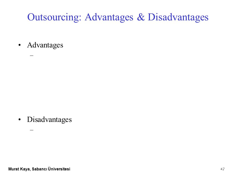 the advantages and risk of outsourcing in a business If you're considering offshore outsourcing, be sure to be aware of both the pitfalls  and the advantages.