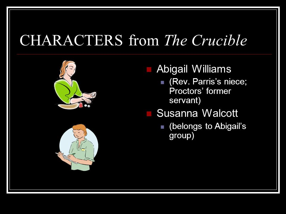 hypocritical characters i the crucible Find the quotes you need in arthur miller's the crucible, sortable by theme, character, or act from the creators of sparknotes.