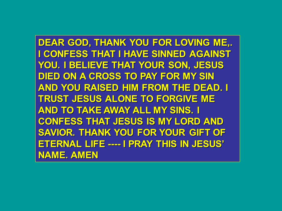 DEAR GOD, THANK YOU FOR LOVING ME,