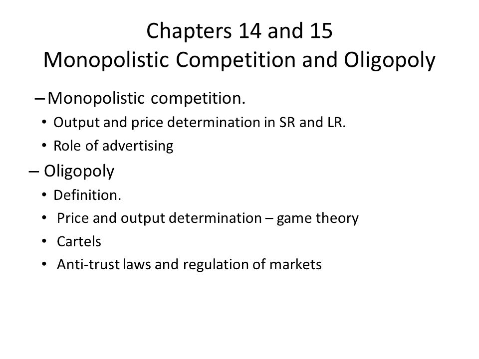 Price and Output Determination under Oligopoly