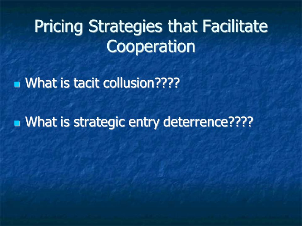 Pricing Strategies that Facilitate Cooperation