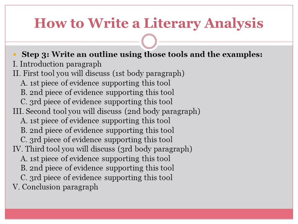 Simple explanation of a literary analysis essay