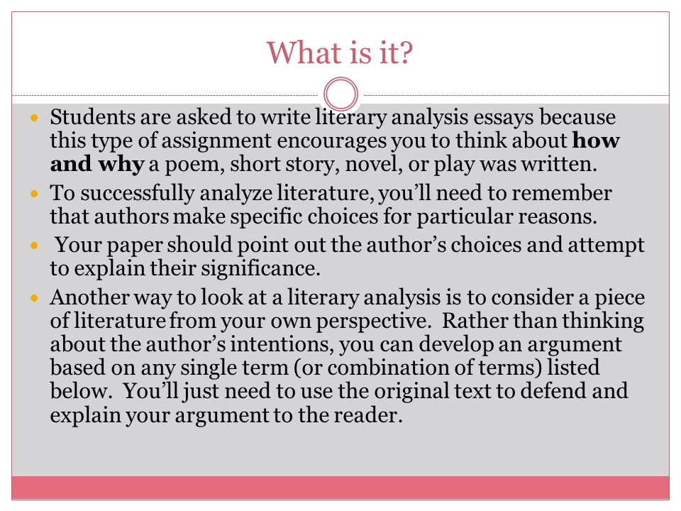how to write a literary essay examples In literature, authors often utilize symbolism, using something tangible or even a person to represent an idea to write an essay about symbolism in a poem or a story, you must first identify what has symbolic meaning.