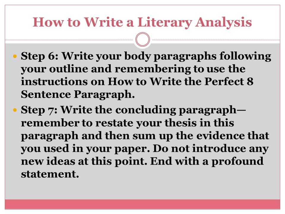 How To Write A Thesis Statement For Literary Analysis