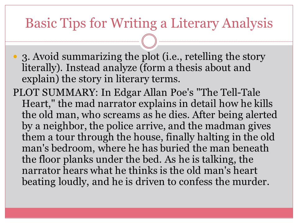 tell tale heart critical analy Poe's critical theories study help quiz cite this literature note summary and analysis the tell-tale heart bookmark this page manage my reading list summary.