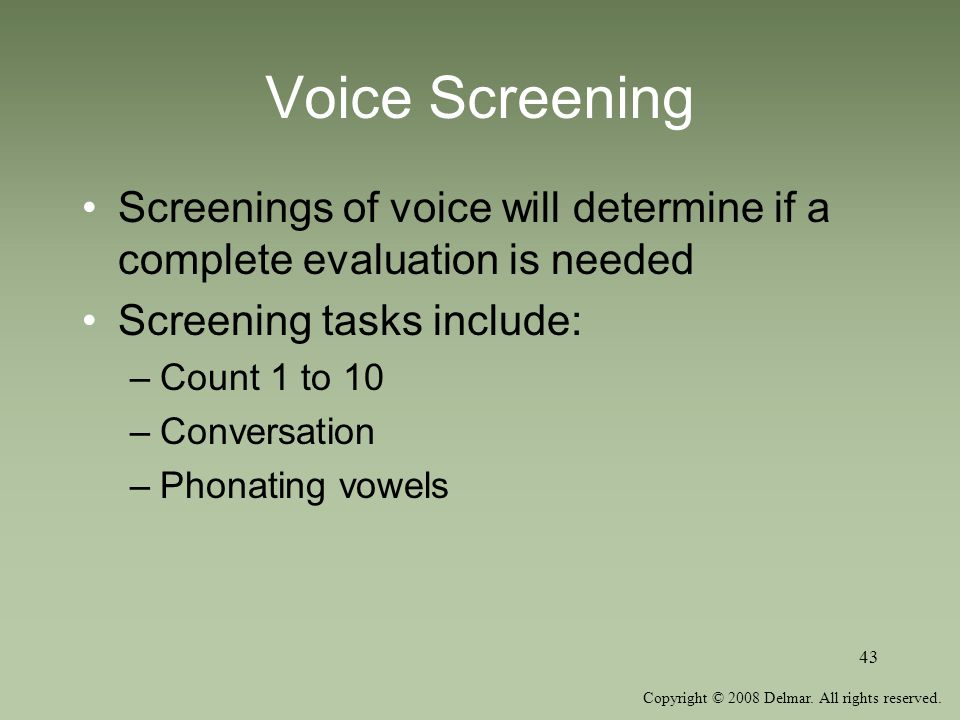 Unit Seven Voice Disorders Ppt Video Online Download
