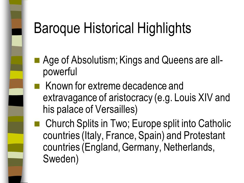 Baroque Historical Highlights
