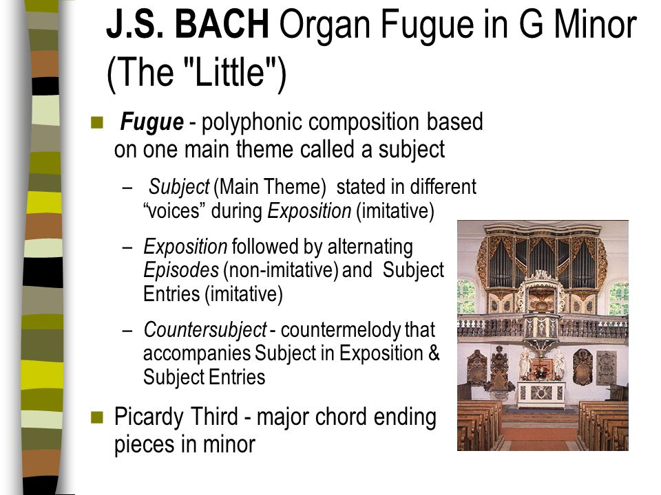 J.S. BACH Organ Fugue in G Minor (The Little )