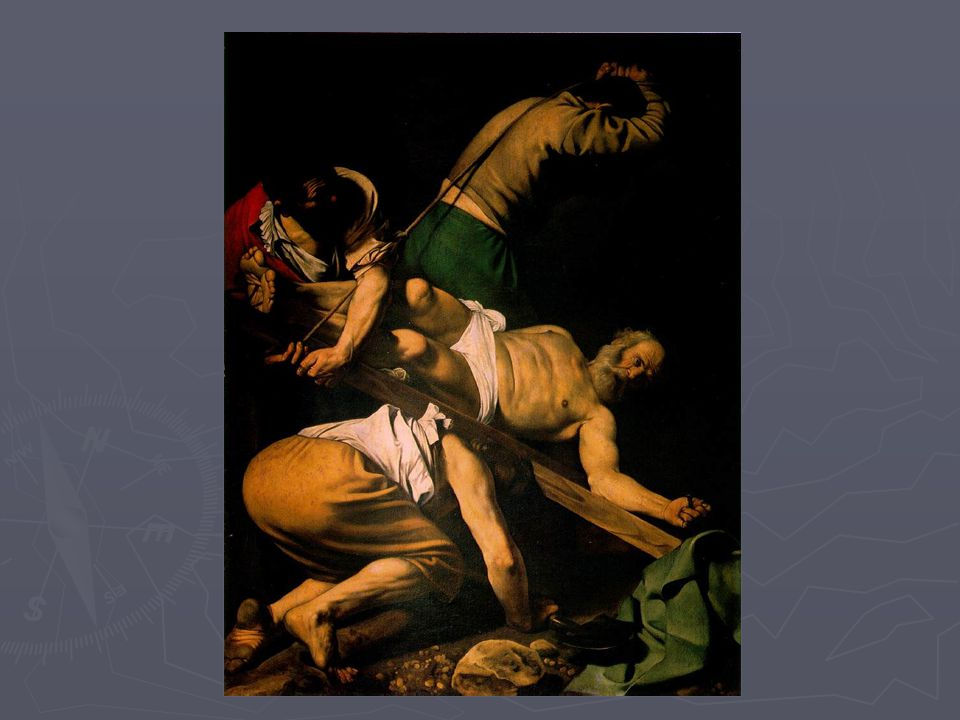 CARAVAGGIO, Michelangelo Merisi da The Crucifixion of Saint Peter Oil on canvas 90 1/2 x 70 in.