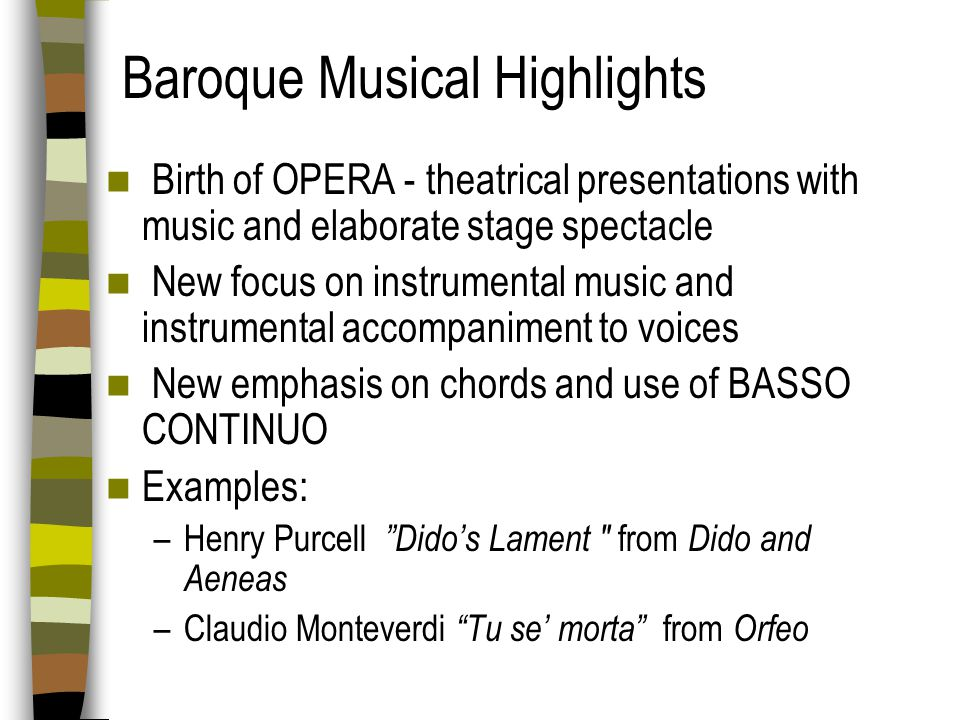 Baroque Musical Highlights