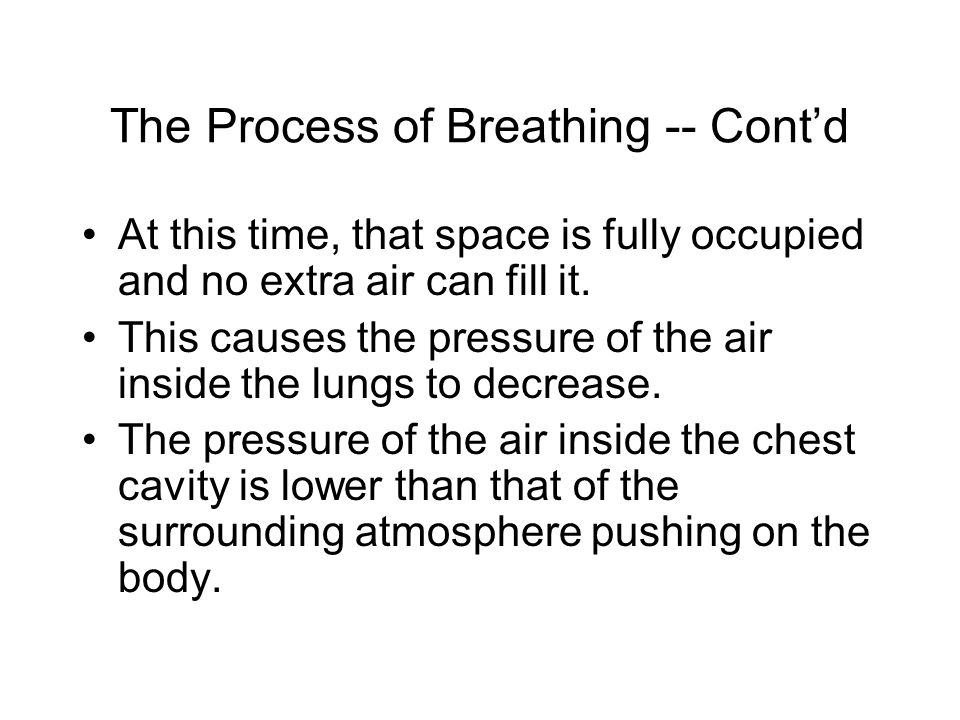 The Process of Breathing -- Cont'd