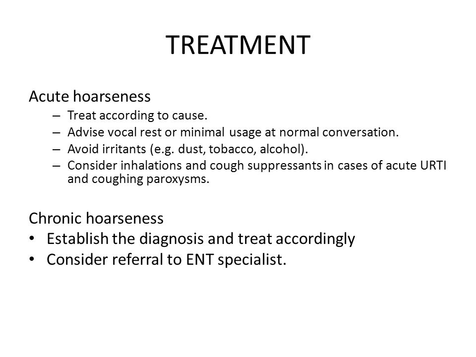 for in reasons adults hoarseness chronic