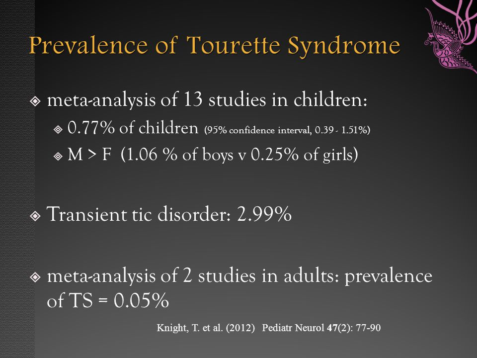 an in depth overview of the tourettes syndrome Tourette syndrome is a neurological disorder that causes repeated, involuntary physical tics and vocal outbursts learn about the symptoms and treatment.