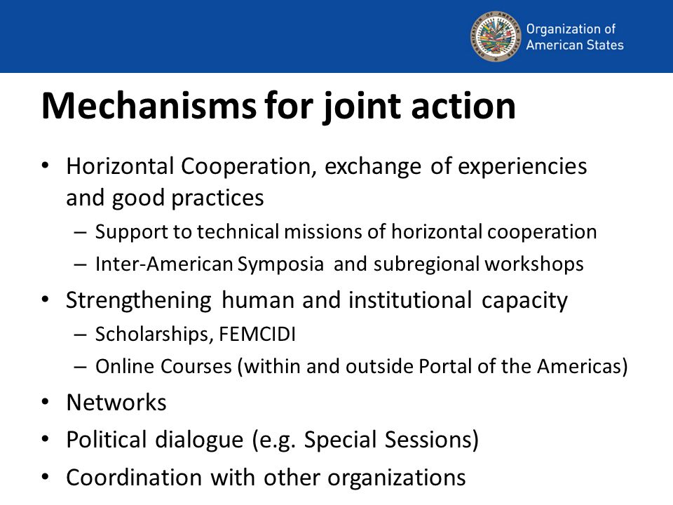 Mechanisms for joint action