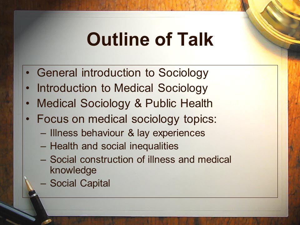 medical sociology research topics