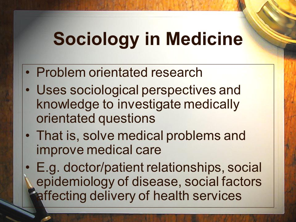 sociology research problems It is the task of sociology to study the social problems through the methods of scientific research and to find out solution to them.